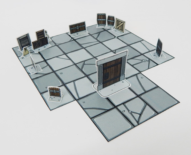 Paper Dungeon and papercraft accessories for tabletop role